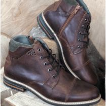 Lloyd & Pryce Mens Clarkson Russet Brown Lace Up Ankle Boots