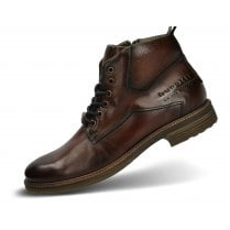 Bugatti Mens Marcello Dark Brown Lace-Up Boot