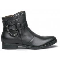 Nero Giardini Black Leather Ankle Boots