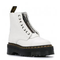 Dr Martens Sinclair White Leather Platform Boots