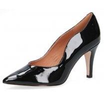 Caprice Premium Black Patent Pointed High Heels