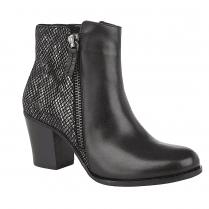 Lotus Tulisa Black Snake Leather Ankle Boots
