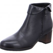 Ara Ladies Florence Black Leather Ankle Boots