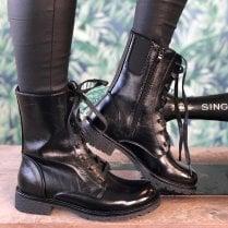 Heavenly Feet Ladies Chloe Black Ankle Boots