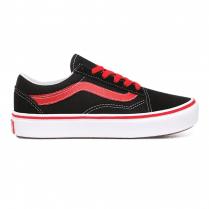 Vans Kids ComfyCush Old Skool Pop Black/Red Trainers