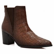 Gabor Ladies Tan Croc Print Ankle Boots