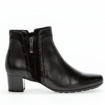 Gabor Ladies Black Ankle Boots