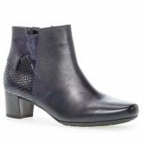 Gabor Ladies Navy Ankle Boots