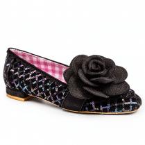 Irregular Choice Sweet Briar Flats - Black