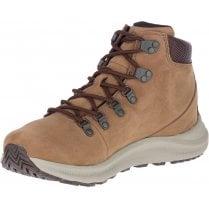 Merrell Mens Ontario Dark Earth Mid Waterproof Boots - Tan