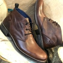 Lloyd & Pryce Mens Gilroy Salted Caramel Lace Up Boots