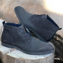 S.Oliver Mens Dark Taupe Lace Up Boots