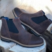 Bugatti Mens Brown Slip-On Chelsea Boot