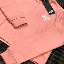 Hype Kids Pink Crop Crew Sweat