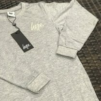 Hype Kids Grey Long Sleeve Top