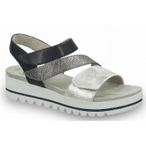 Jana Ladies Navy Combination Sandals