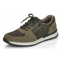 Rieker Mens Forest Brown Lace-Up Trainers