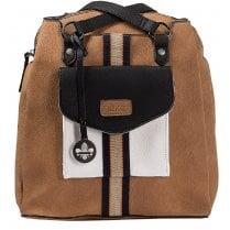 Rieker Ladies H1026-20 Tan and Navy Backpack