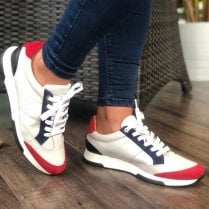 Unisa Falconi Leather and Suede Sneakers