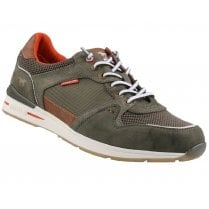 Mustang Mens Olive Lace Up Trainers
