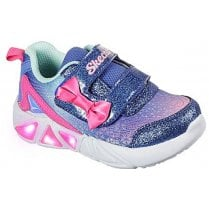 Skechers Infants Tri-Brights Blue and Pink Trainers