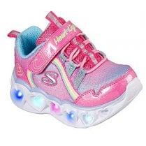 Skechers Infants Heart Lights Pink Ombre Trainers