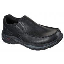 Skechers Mens Black Arch Fit Motley Hust Slip On Shoes
