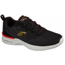 Skechers Mens Skech-Air Dynamight Black Machine Washable Trainers