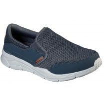 Skechers Mens Charcoal and Orange Equalizer 4.0 Persisting Slip On Shoes