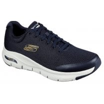 Skechers Mens Navy Arch Fit Machine Washable Trainers