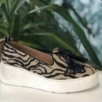 Wonders 8360 Zebra Tassel Slip On