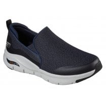 Skechers Mens Navy Arch Fit Banlin Machine Washable Shoes