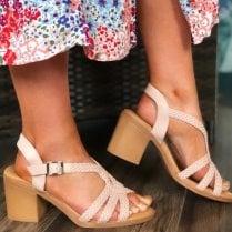 Xti Ladies Blush Strappy Sandal