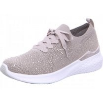 Ara Ladies Maya Oyster Grey Bejewelled Trainers