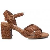 Xti Ladies Tan Woven Sandal