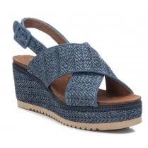 Refresh Ladies Blue Wedge Woven Sandal