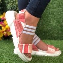Jose Saenz 2165 Pink Multi Sandal