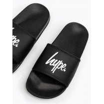 Hype Kids Black Script Sliders