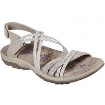 Skechers Ladies Reggae Slim Takes Two Taupe Sandals