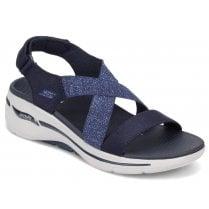 Skechers Ladies Arch Fit Astonish Navy Sandals