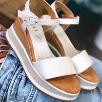 Unisa Ladies Kolla Ivory Wedged Sandals