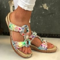 Ara Ladies Hawaii Multicolour Sandals