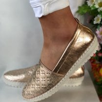 Lunar Ladies Ashby Rose Gold Slip On Shoes