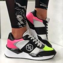 Guess Tesha FL5TES Pink Wedge Trainers