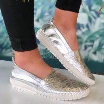 Lunar Ladies Ashby Sliver Slip On Shoes