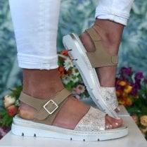 Notton Ladies 2102 Champagne Leather Sandal