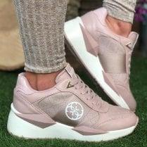 Guess Tesha FL5TES Blush Pink Trainers