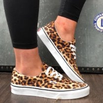 Vans Womens Era Leopard Black and White Lace Up Trainer