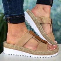 Gabor Ladies Light Tan Chunky Sole Sandals