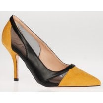 Una Healy Ladies The Fool Yellow and Black Court Heel